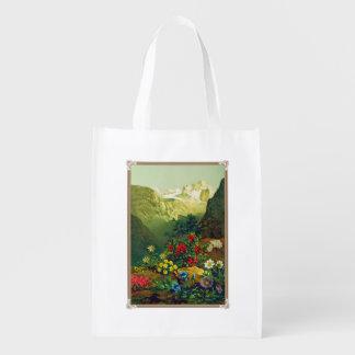 Plants of the Alpine Region Reusable Bag Market Tote