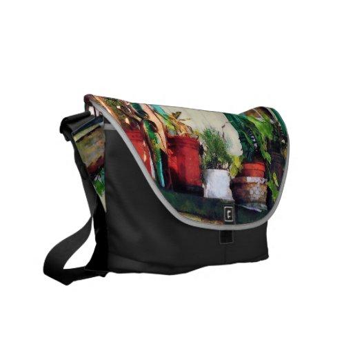 Plants on Porch Messenger Bags