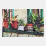 Plants on Porch Towels