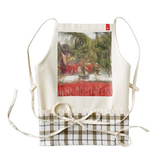 Plants on stalls at an exhibition zazzle HEART apron