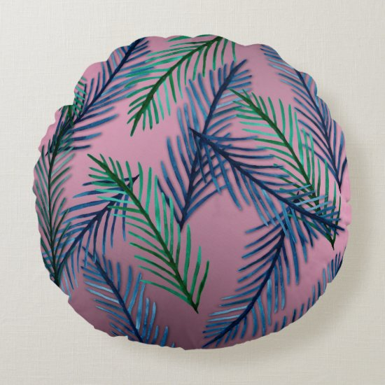 Plants Pattern Round cushion