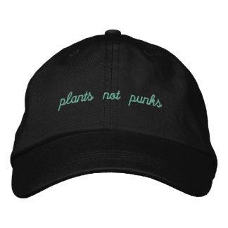 Plants/punks??? Embroidered Baseball Hat