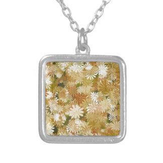 Plants Square Pendant Necklace