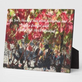Plaque: Autumn Grape Vines, Heavy with Fruit,
