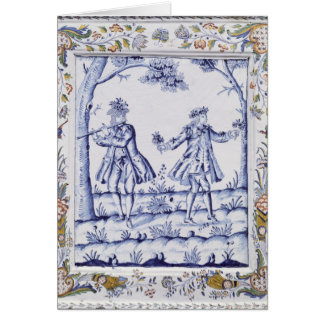 Plaque depicting a scene from 'The Magic Flute' Card