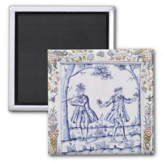 Plaque depicting a scene from 'The Magic Flute' Fridge Magnet