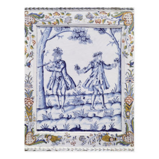 Plaque depicting a scene from 'The Magic Flute' Postcard