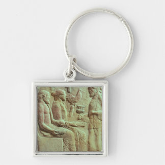 Plaque depicting an offering, c.450 BC Keychain