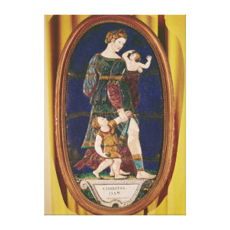 Plaque depicting Charity Limousin 1559 Gallery Wrapped Canvas