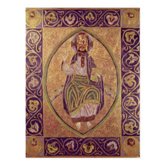 Plaque depicting Christ blessing Postcard