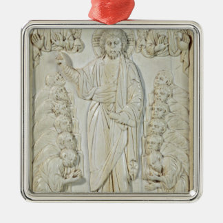 Plaque depicting Christ blessing the Apostles Metal Ornament