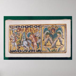 Plaque depicting Heraclius Poster