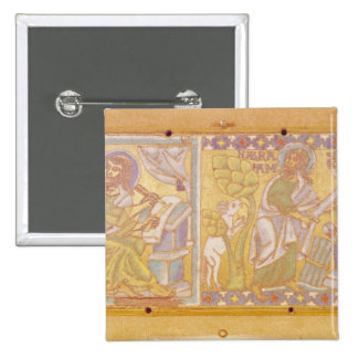 Plaque depicting St. Mark 2 Inch Square Button
