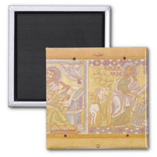 Plaque depicting St. Mark Magnet