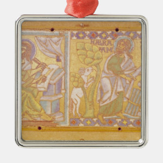 Plaque depicting St. Mark Metal Ornament