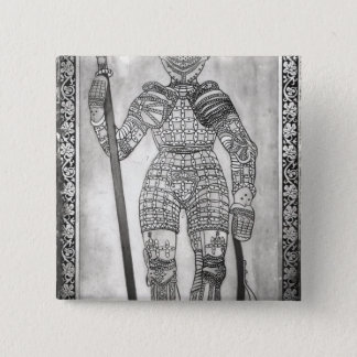 Plaque depicting the armour of Joan of Arc Pinback Button