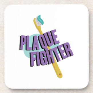 Plaque Fighter Beverage Coasters