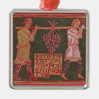 Plaque from a cross square metal christmas ornament