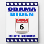 Plaque Obama/Biden:Calendar: History In Our Hands