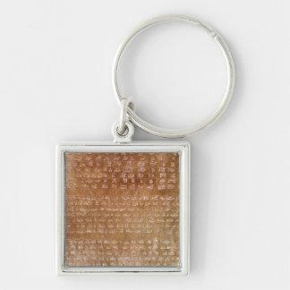 Plaque of Darius I  550-500 BC Keychain