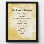 Plaque - The Pledge of Allegiance