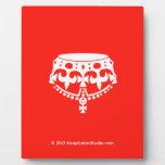 [Crown upside down]  Plaques