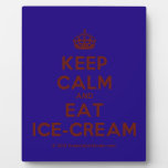 [Crown] keep calm and eat ice-cream  Plaques