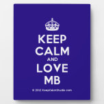 [Crown] keep calm and love mb  Plaques