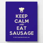 [Chef hat] keep calm and eat sausage  Plaques