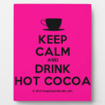 [Cup] keep calm and drink hot cocoa  Plaques