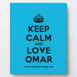 [Crown] keep calm and love omar  Plaques