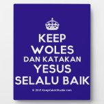 [Crown] keep woles dan katakan yesus selalu baik  Plaques
