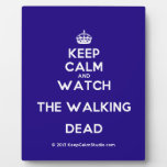 [Crown] keep calm and watch the walking dead  Plaques