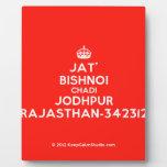 [Crown] jat' bishnoi chadi jodhpur rajasthan-342312  Plaques