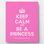 [Crown] keep calm and be a princess  Plaques