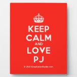 [Crown] keep calm and love pj  Plaques