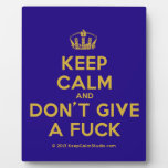 [Dancing crown] keep calm and don't give a fuck  Plaques
