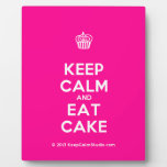 [Cupcake] keep calm and eat cake  Plaques