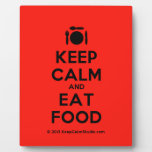 [Cutlery and plate] keep calm and eat food  Plaques