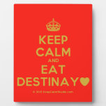 [Crown] keep calm and eat destinay♥  Plaques