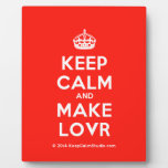 [Crown] keep calm and make lovr  Plaques