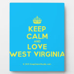[Crown] keep calm and love west virginia  Plaques