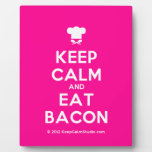 [Chef hat] keep calm and eat bacon  Plaques