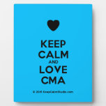 [Love heart] keep calm and love cma  Plaques