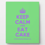 [Crown] keep calm and eat cake  Plaques