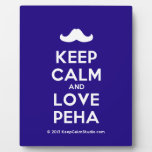 [Moustache] keep calm and love peha  Plaques