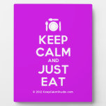[Cutlery and plate] keep calm and just eat  Plaques