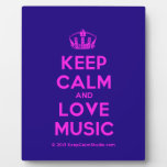 [Dancing crown] keep calm and love music  Plaques