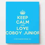 [Crown] keep calm and love coboy junior  Plaques