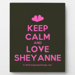 [Two hearts] keep calm and love sheyanne  Plaques
